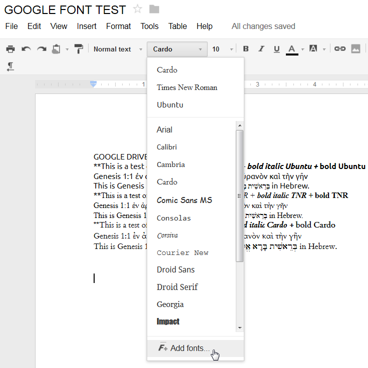 Biblical studies and technological tools greek and hebrew for Fonts for google docs android