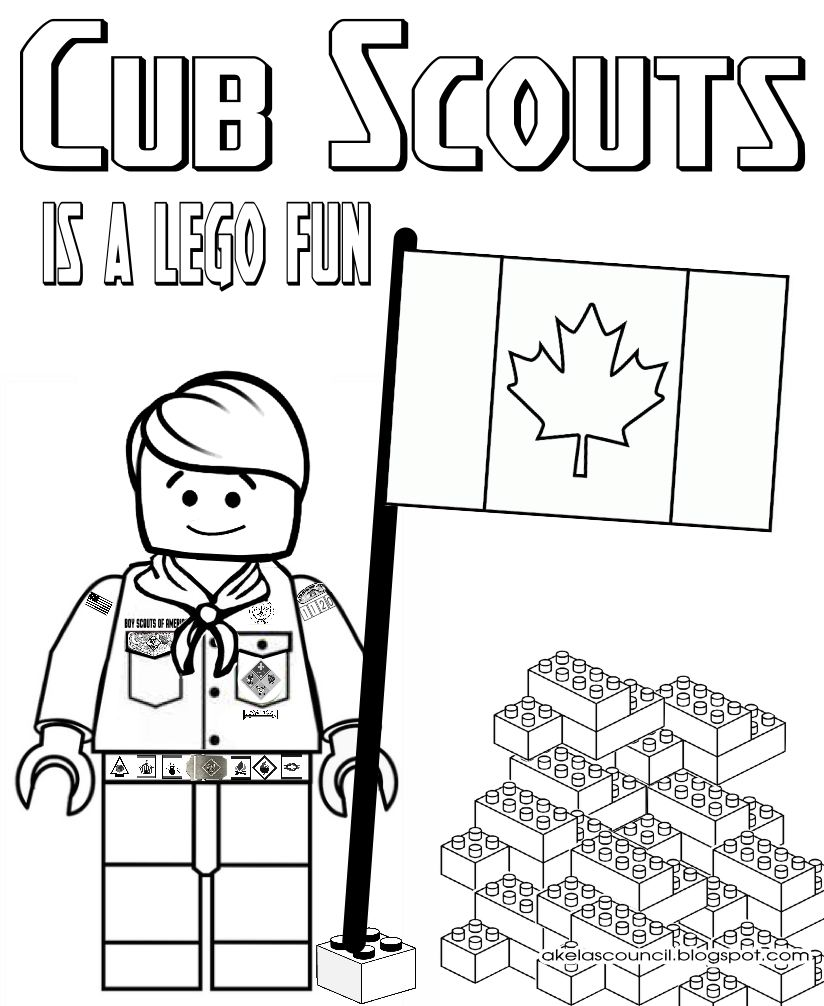 Akela's Council Cub Scout Leader Training: Lego Cub Scout Coloring ...