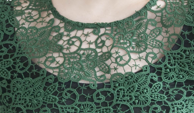 Zara, Top, Lace, Green