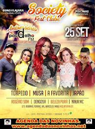 SOCIETY FEST CLUB - ANIVERSÁRIO DA RÁDIO PAUDALHO FM.