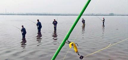 Ловля с берега на джиг