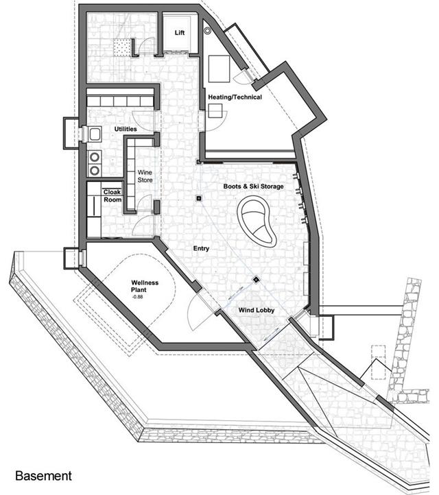 World of architecture 5 star luxury mountain home with an for Luxury mountain home floor plans