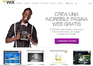 Crear una página web gratuita con Wix