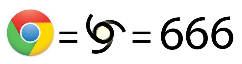 Google Chrome Logo 666
