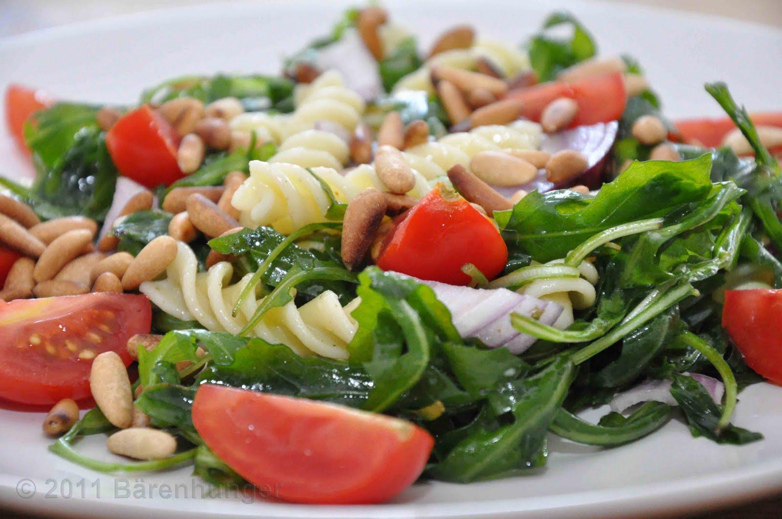 Rucola tomaten nudel salat for Kochen ohne salz