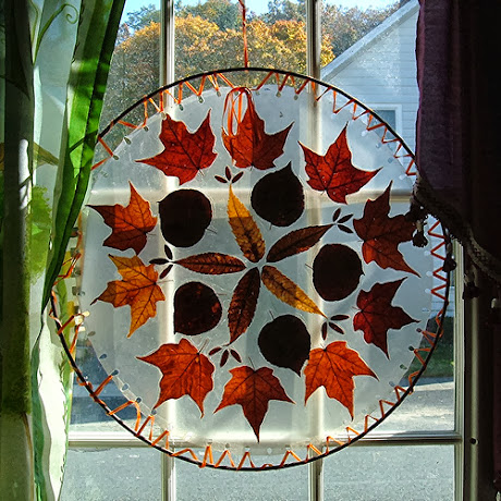 NAMC montessori sensory activities fall window mosaic maureclaire