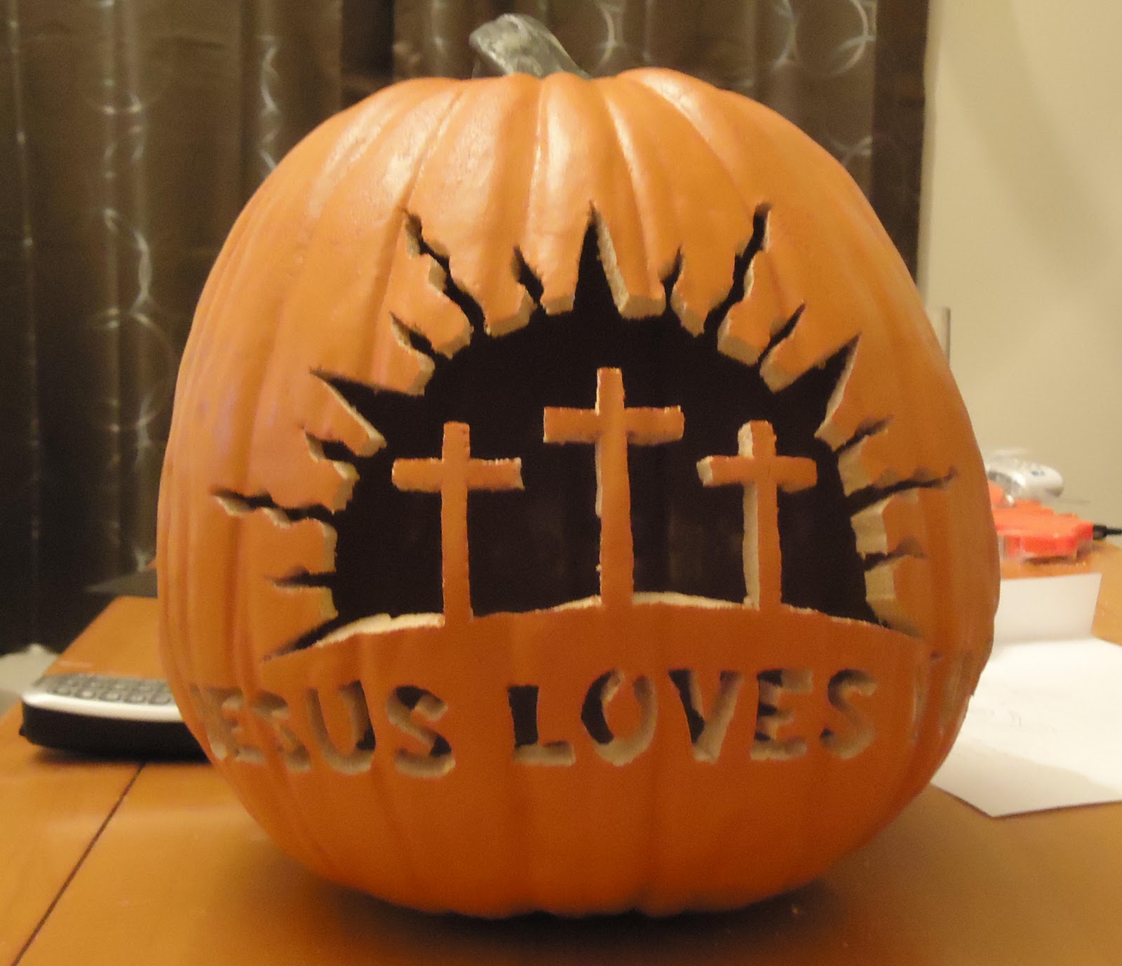 Snips n snails jesus loves you jack o lantern
