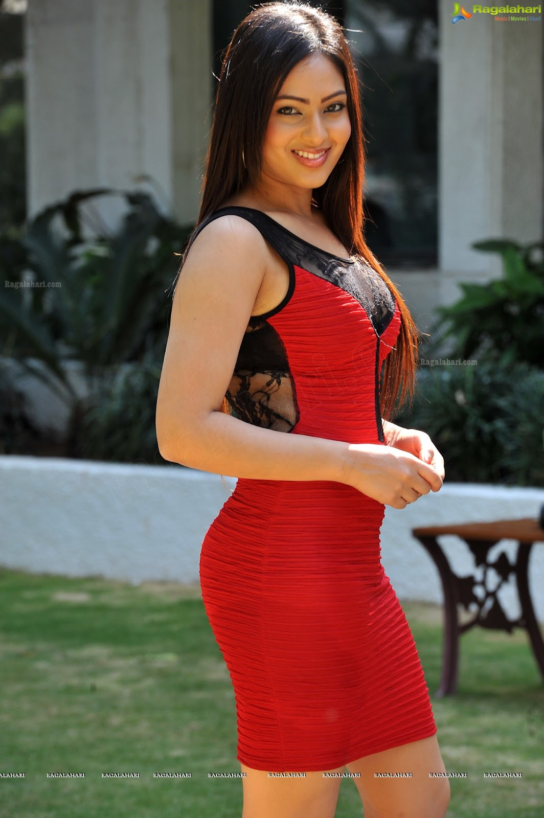Nikesha Patel in Red Dress1 -  Nikesha Patel Hot Pics In Red Dress