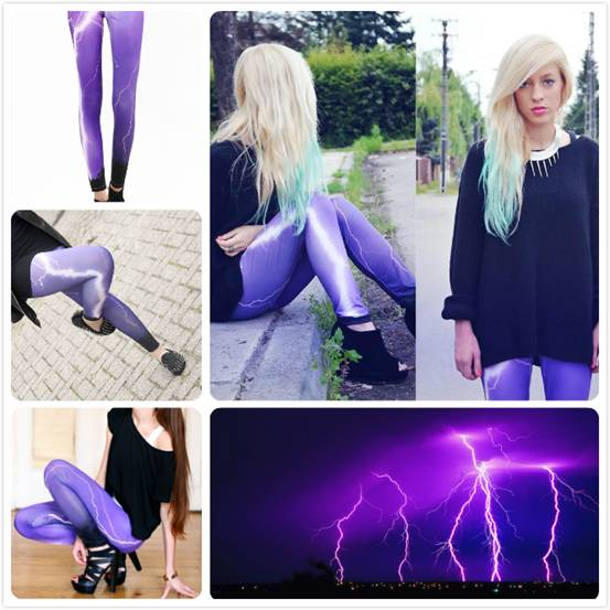 romwe lightning leggings collage, street style