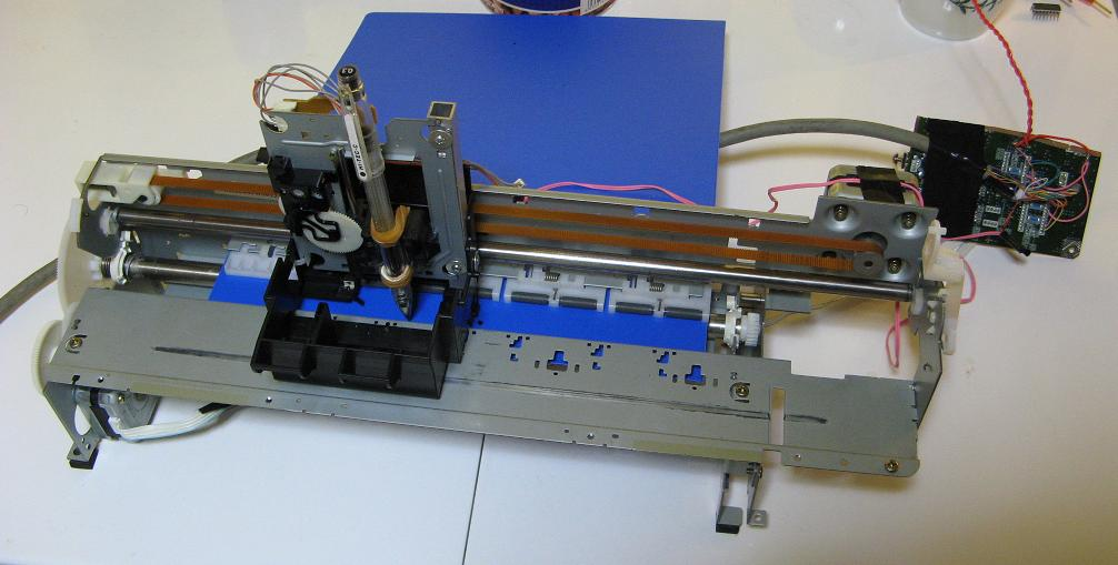 Junk arduino svg image plotter