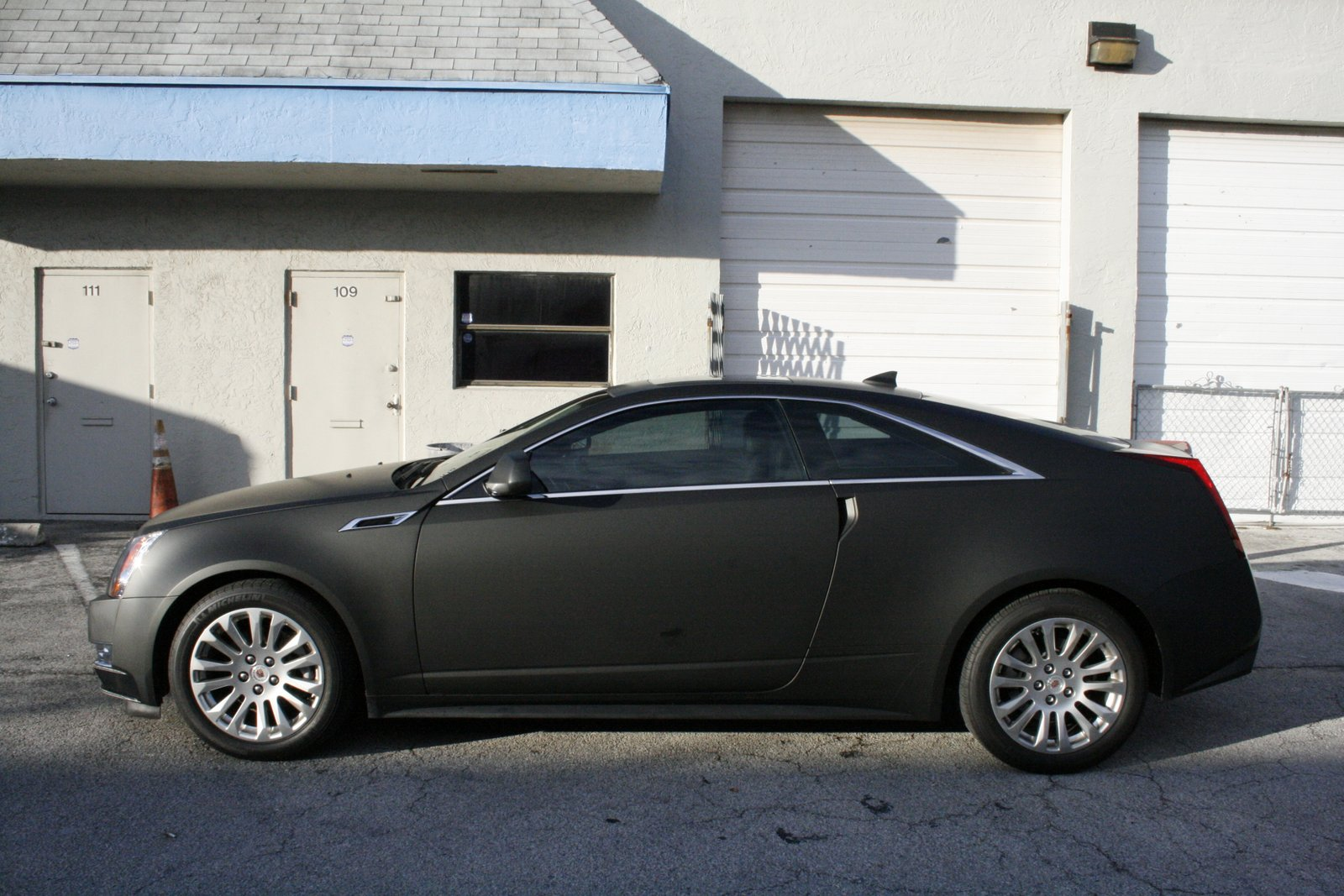 cadillac cts matte black car wrap fort lauderdale florida. Black Bedroom Furniture Sets. Home Design Ideas