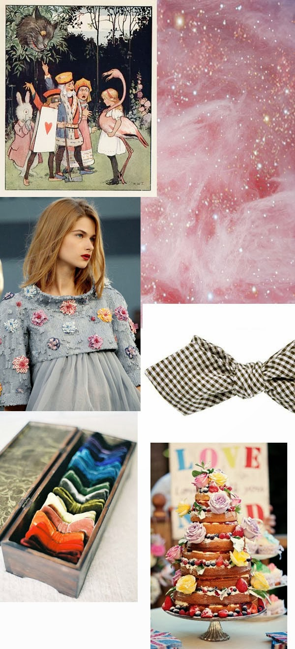 Vintage Alice in Wonderland inspiration board