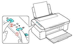 Кнопки на панели принтера, которые нужно нажать для выполнения работы
