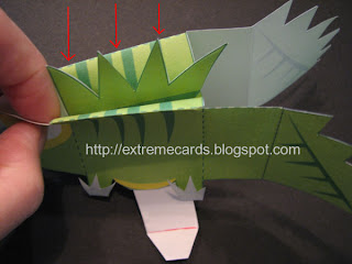 lizard cube pop up card