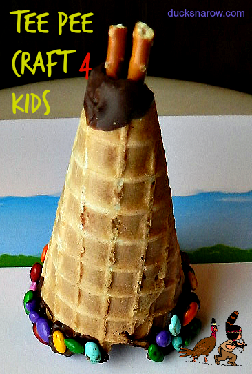 Native American Tee Pee Craft; preschool crafts; H is for House lesson