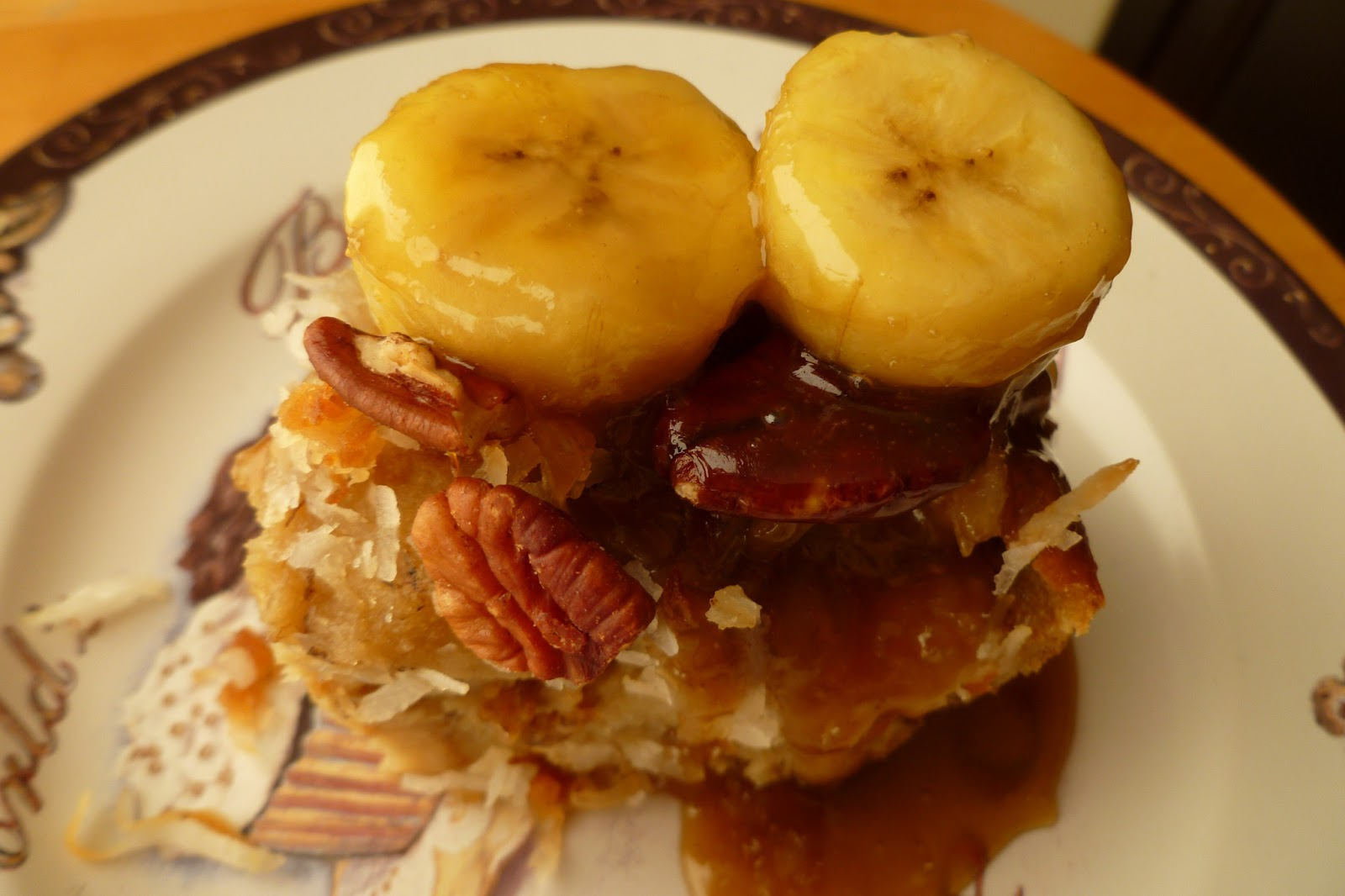 Banana Pecan-Coconut Bread Pudding - made July 20, 2013, recipe ...