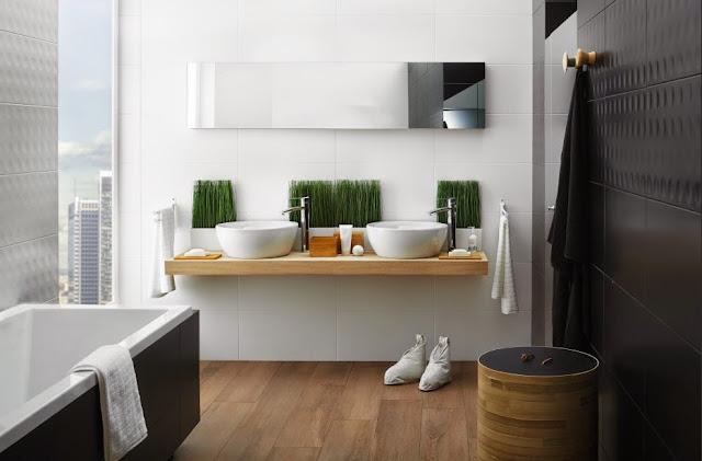 Azulejos Baño Grises:Azulejos blancos para baños 9 ejemplos imprescindibles