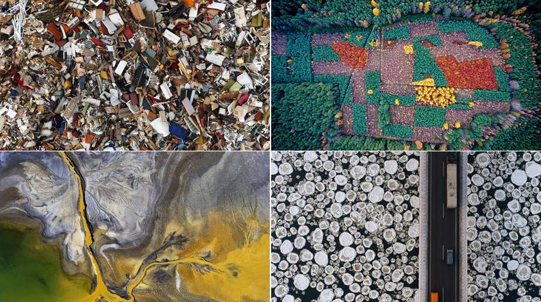 Impacto humano sobre el Medio Ambiente de Polonia, como se ve desde el aire