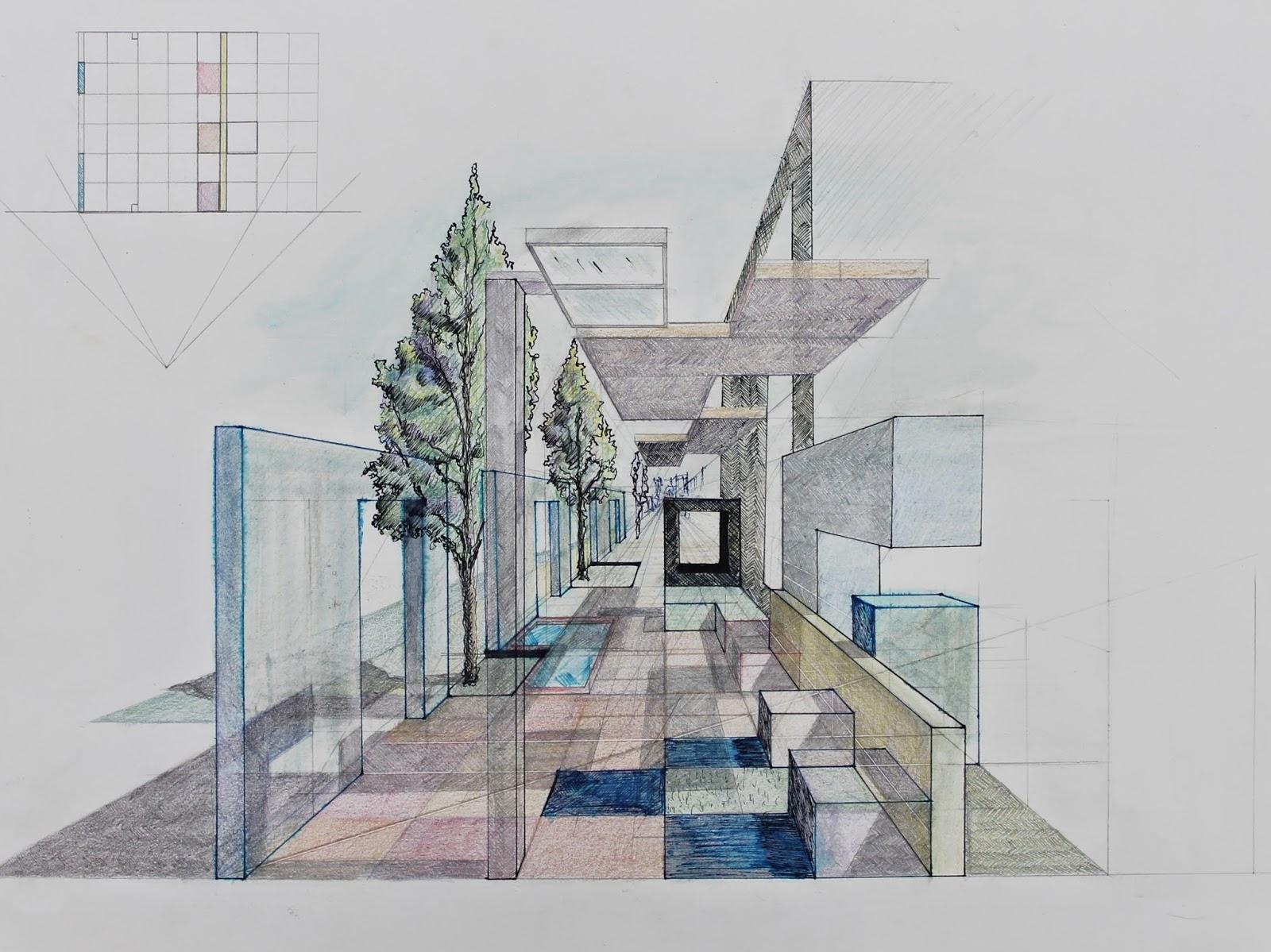 Arquitectura y dise o perspectiva c nica en color - Diseno y arquitectura ...