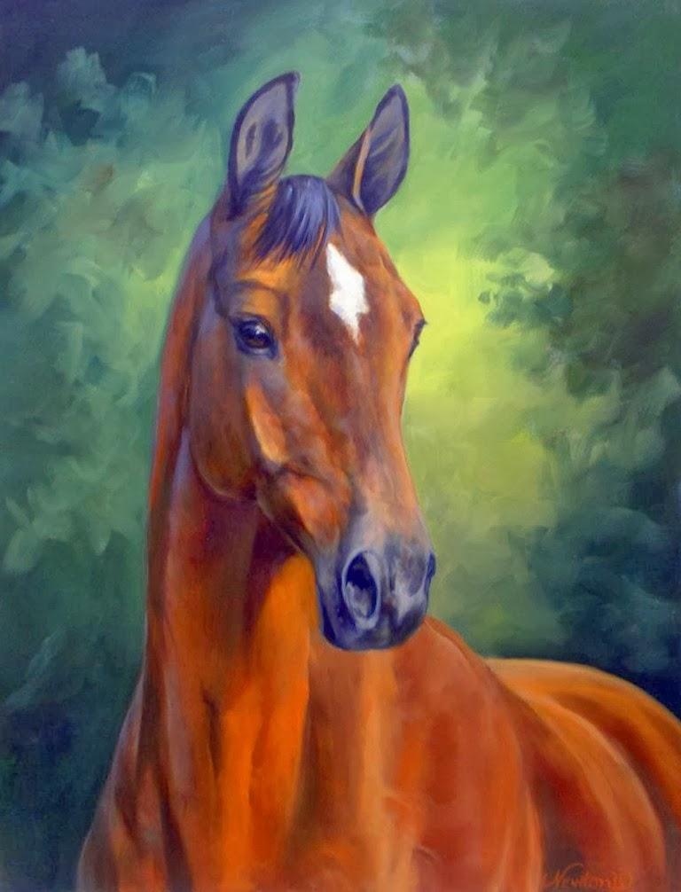 Im genes arte pinturas cabezas de caballos obras de for Imagenes cuadros abstractos juveniles