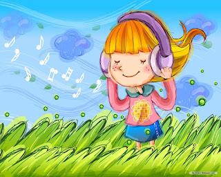 Menina ouvindo música para relaxar