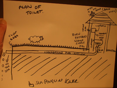 plan of toilet, by sea penguin