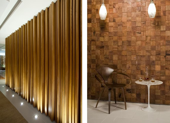 Revestimientos de madera reciclada inspiraci n espacios - Placas para decorar paredes ...
