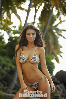 Emily Ratajkowski Body Paint Bikini sexy ass boobs Cleavages for Sports Illustrated Swimsuit Issue 2014