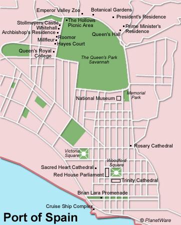 Similiar Map Of Port Spain Tt Today Maps