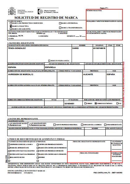 Elecsun sl 8 oficina de patentes y marcas for Oficina de patentes