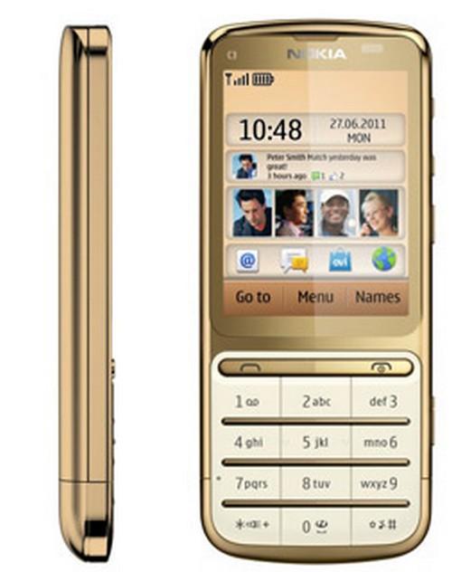 Nokia Mobiles Nokia C3 01 Gold Edition Nokia C3 01 Gold Apps