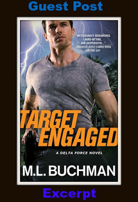 GUEST POST, EXCERPT, Target Engaged by M.L. Buchman, Bea's Book Nook