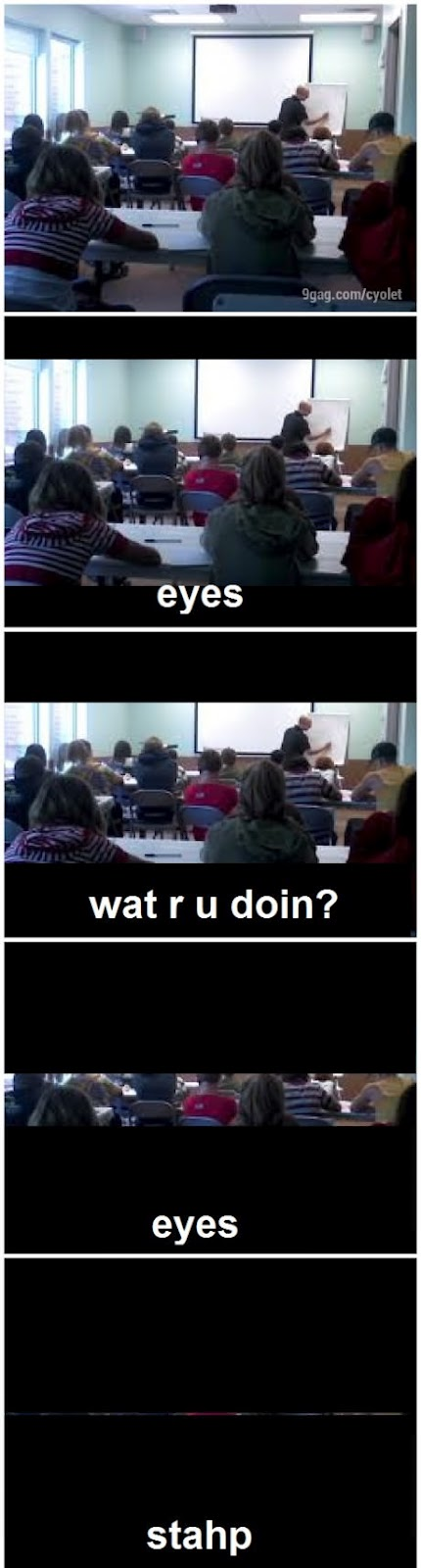 funny comic picture eyes at class