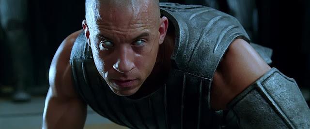 Riddick 2013 film starring Vin Diesel,Jordi Mollà,Dave Bautista,Karl Urban and Katee Sackhoff