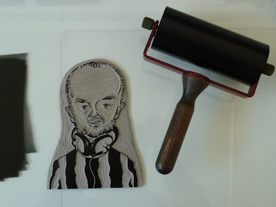 John Peel linocut print
