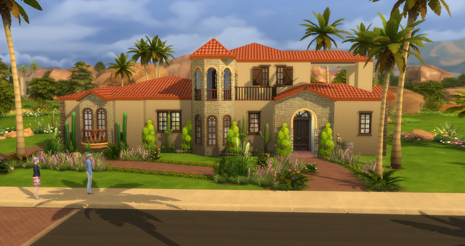 Lacey loves sims spanish villa for Spanish house