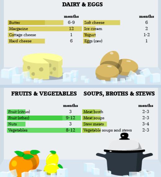 Infographic Tentang Berapa Lama Makanan Bisa Bertahan Di Kulkas