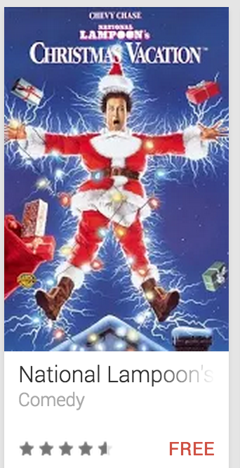 image Freebie - Google Canada Presents National Lampoon's Christmas Vacation Shocked Griswald Santa