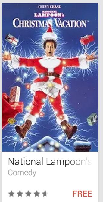 image Freebie - Google Canada Presents National Lampoon's Christmas Vacation Shocked Griswald Santa