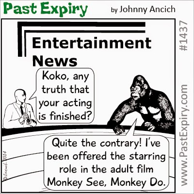 Cartoon about entertainment, movie, animals, celebrity