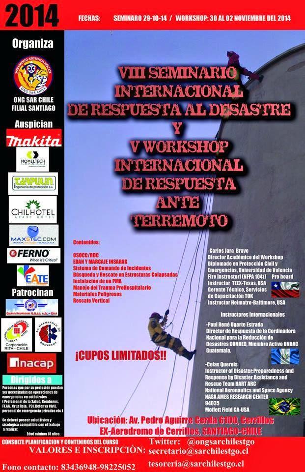Santiago: V Workshop Internacional de respuesta ante terremoto