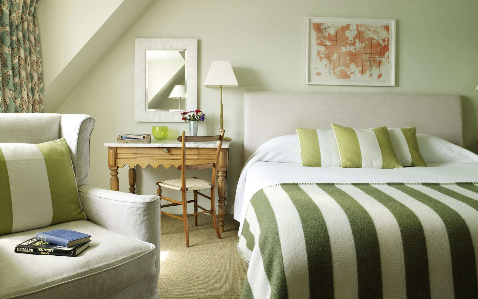 Marta decoycina color verde apuesta por el - Bedroom style for small space model ...