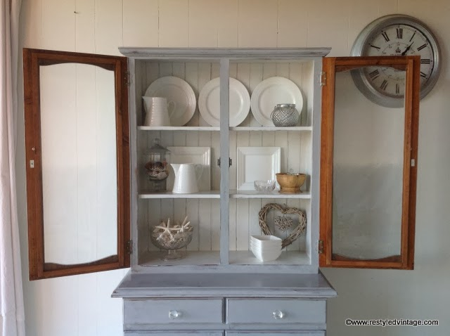I Gave The Exterior Two Coats Of Annie Sloan Chalk Paint In Paris Grey. For  The Inside I Used A Custom Mix Of Pure White And French Linen  (approximately ...