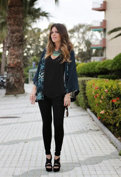 Wearing a Zara Summer Kimono