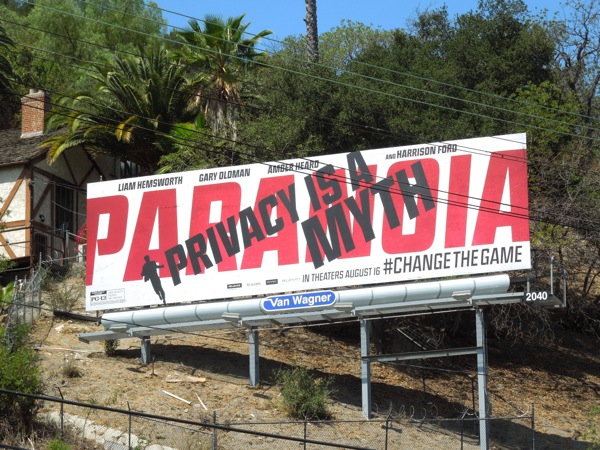 Paranoia Privacy is a Myth billboard