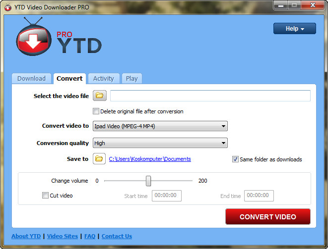 how to download video from any site using url