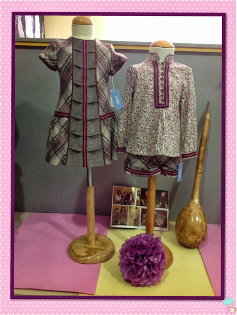 Vestido y Conjunto cuadro tartar de Babiné en Blog Retamal moda infantil y bebe ropa en tienda de niños y juvenil