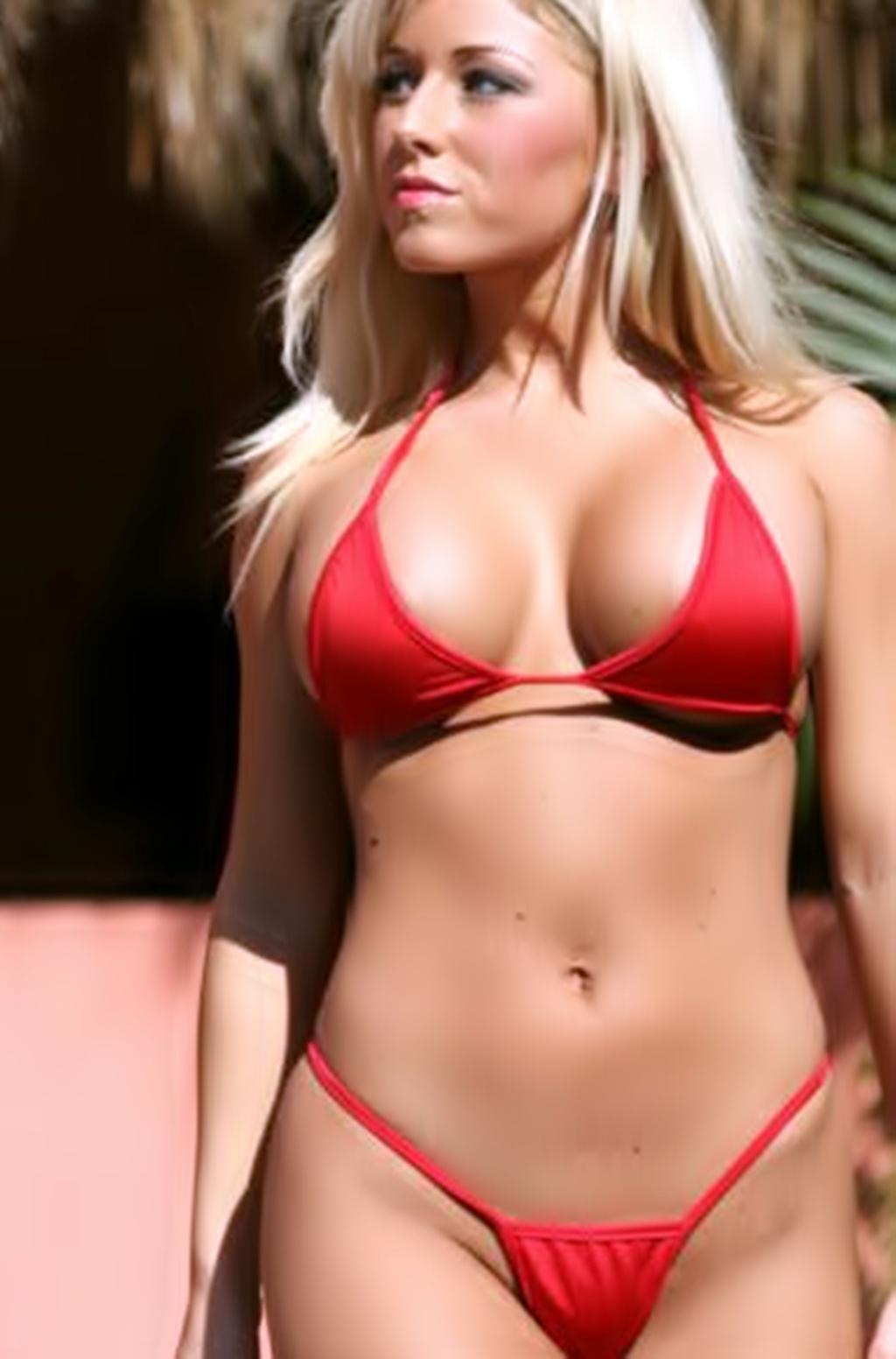 Micro bikini game babe exposed movie