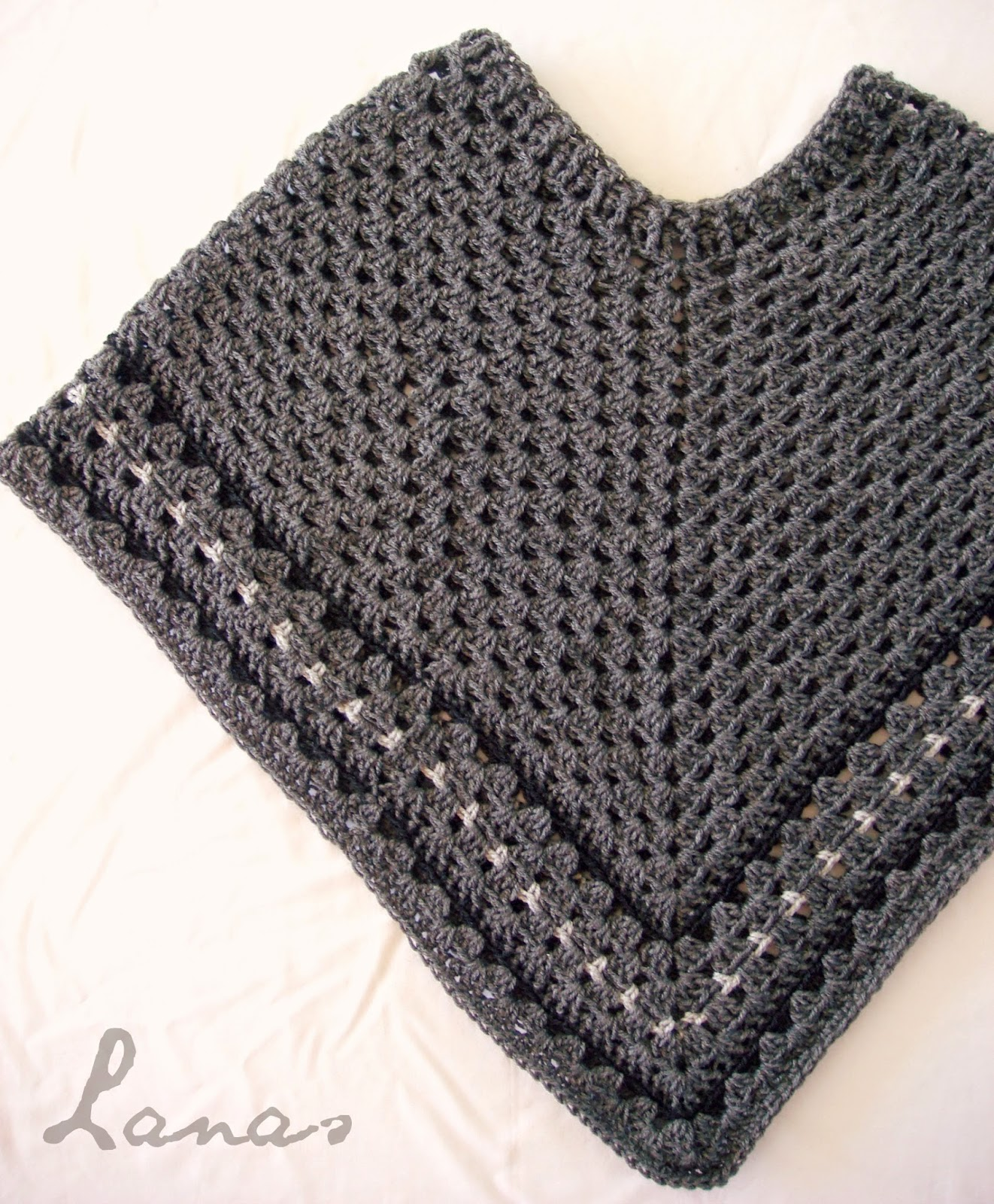 lanas de ana dark grey poncho. Black Bedroom Furniture Sets. Home Design Ideas