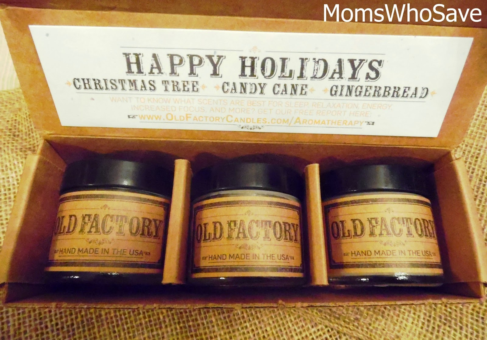 Old Factory Candles Gift Set Review and Giveaway